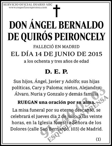 Ángel Bernaldo de Quirós Peironcely